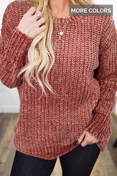Picture of Cozy Fireside Chunky Chenille Sweater
