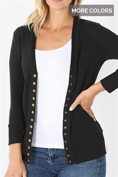 Picture of 3/4 Sleeve Snap Cardi