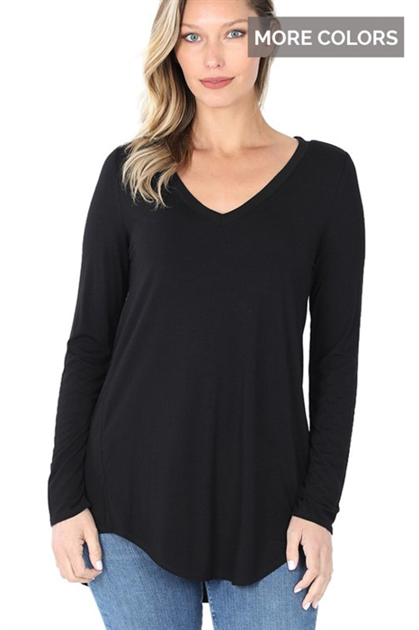 Picture of Lux Long Sleeve V-Neck Top