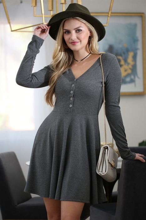 Picture of Rib Knit Flare Dress